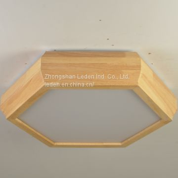 Hexagram Shaped Wooden Ceiling Light Lamp