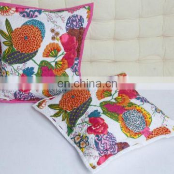Wholesale Seller Custom Decorative Latest Kantha Handmade Design Indian Cushion Cover