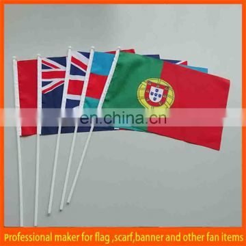 top quality PVC paper polyester hand waving flag