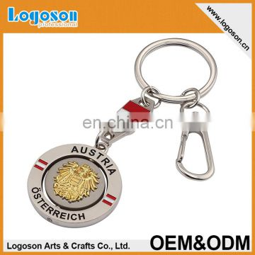 personalized metal rotation keychain with holder
