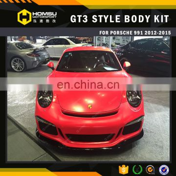 3 Carbon Fiber body kit front and rear bumper for 911 gt3 style accessories