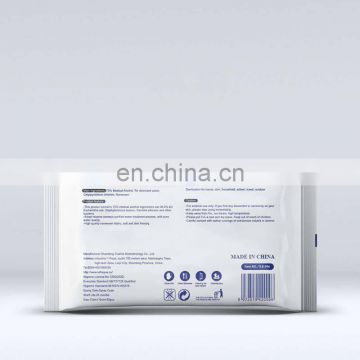 FDA CE MSDS clean disposable sterilization alcohol 75% wet wipes disinfection alcohol wipes 50pcs