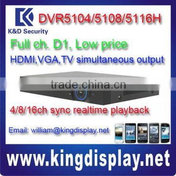 DVR5104 h 264 dvr china in shen zhen hd sdi 5108/5116H kit hd dvr