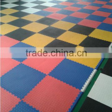 Shenzhen Plastic Interlock Floor Tiles In Sport Ground