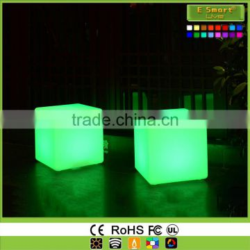 LED furniture lighting LED outdoor mood light cube/LED sitting cube with battery operated