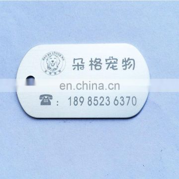 Cheap factory custom logo printing dog tags for hot selling