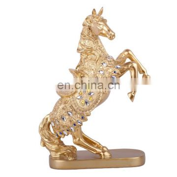resin horse head 2017 decorative gold resin model horse head