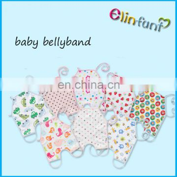 Wholesale baby footsies bellyband navel protection bibs soft 100% cotton baby bellyband