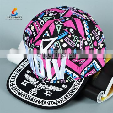 Fashion Promotional cheap Printed bandana snapback cap Custom Snapback Caps