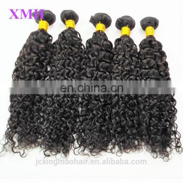 Wholesale Factory Price Unprocessed Human Hair Machine Double Weft Virgin Curly human Braiding Hair