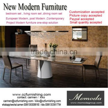 Momoda Luxury Italy Modern Furniture 1PC Custom Made 8 12 Chairs Marble Top Dining Table Dubai Middle East Room Of Customized