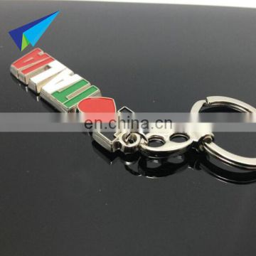 Top selling high quality metal keychain with your onw logo