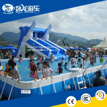 PVC Cheap Kids Inflatable Water Slide Used Inflatable Slides With Water Pool For Sale