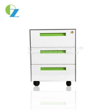 Under the desk filing cabinet mobile cabinet metal mobile pedestal with 3 drawers