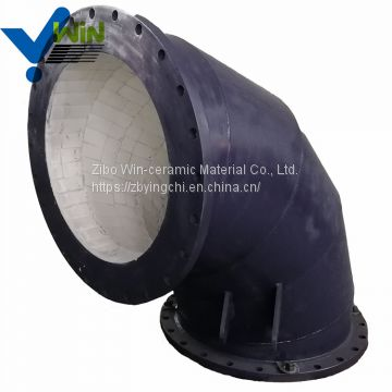 High hardness ceramic lined elbow steel pipe with low price