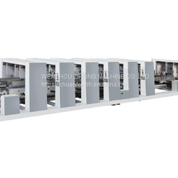 Grouping type Automatic new product Separated Motor Control food container Folder Gluer Machine For 4 6 Corner Box