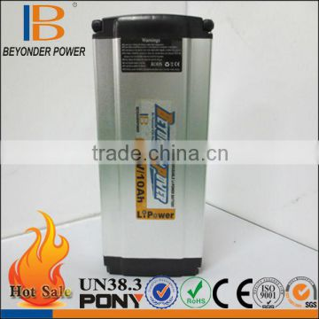 Beyonderpower high capacity rechargeable lithium polymer battery 36v 10ah electric bike 18650 battery manufacturer in Hangzhou