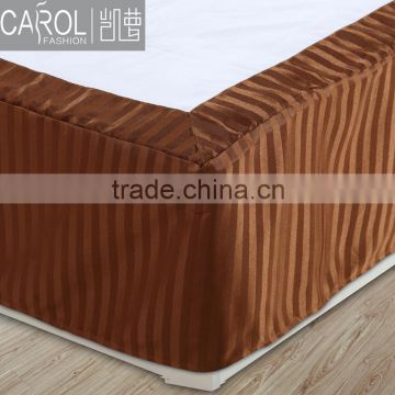 top quality alibaba gold supplier hotel cotton fitted quilted bed skirt