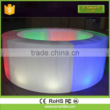 Exclusive modern restaurant solid surface led bar counter and tableHigh-end Led Bar Counter And TablePlastic Round Outdoor Table