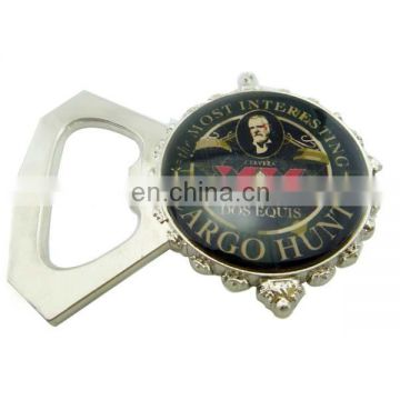High quality metal print with epoxy custom shape bottle opener