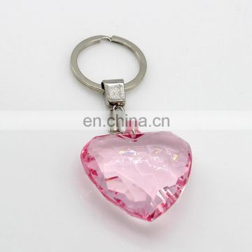 2017 wholesale wedding gifts crystals heart design key chain