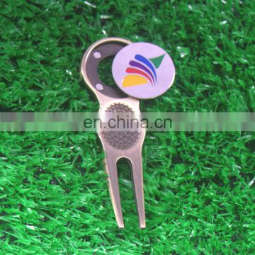Custom Golf Divot, Pivot Repair Tool with Magnetic Ball Marker
