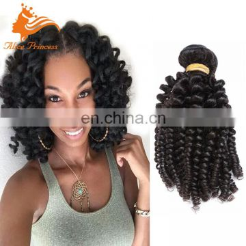 Good Quality Hair Attachements 100% Indian Remy Hair bundles Fumi Style Natural Color Pre Twisted Hair Weaving