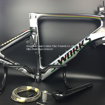 s-work visa frame 	2018 NEW carbon fiber road frame Di2 Mechanical racing bike carbon road frame+fork+seatpost+headset+handlebar carbon road bike accessories