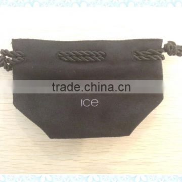 Black Suede jewelry bag manufacturer