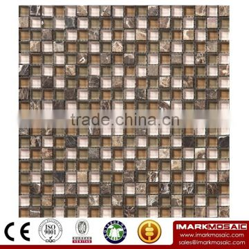 IMARK Mosaic with Painting Glass Mosaic Tiles,Crystal Glass Mosaic Tiles and Marble Mosaic Tiles(IXGM8-044)