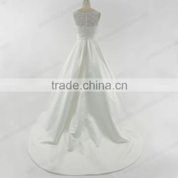 Modest sexy sweetheart white alibaba beach wedding dress bridal gown