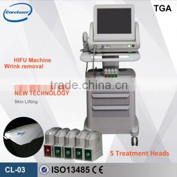 The Newest Technology Hifu Machine/high Intensity Focused Ultrasound Skin Tightening Hifu For Wrinkle Removal / Hifu Face Lift Skin Rejuvenation