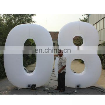 customized led lighting number/letter inflatable for advertisement&event&party decoration