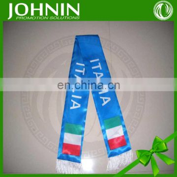 wholesale high quality custom printing sports national flag scarf