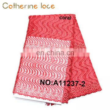 Catherine Hot Sell Embroidery African Guipure Lace Fabric For Evening Dress