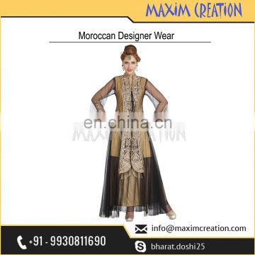 Leading Designer Company Selling Beautiful Party Wear Khaleeji Thobe Dress