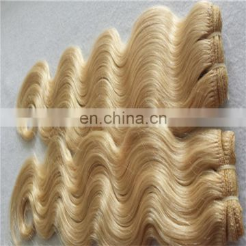 Factory wholesale human hair weft blonde color 613# hair weaving for white women