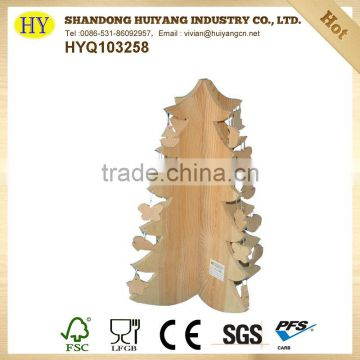 unfinished home wooden tree decoration wholesale