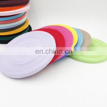 factory supply stock colored 1cm herringbone cotton webbing
