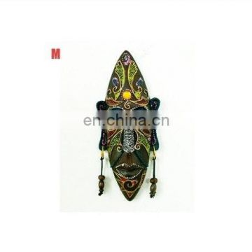 Hotsale Ancient African Antiques Wooden Masks in color print For Home decro