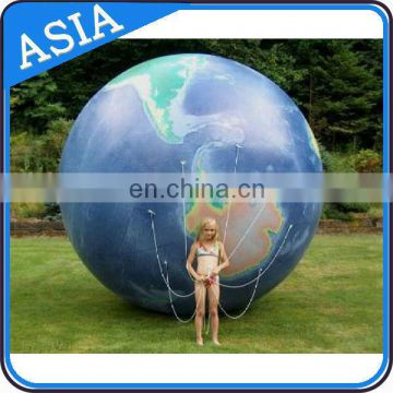 Inflatable Helium Globe Model, Inflatable Earth Model For Outdoor Advertising