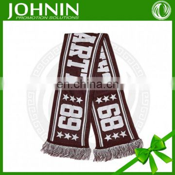 new style shawl jacquard weave acrylic sport knitted cotton scarfs