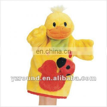 stuffed animal pattern duck hand puppet glove doll toy gift