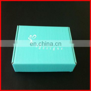 100% design and size teal color printed matte hat shipping box,wine shipping box,skateboard shipping box