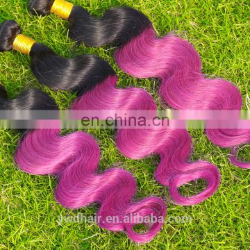 8A Ombre Brazilian Hair Body Wave Two Tone Color Purple Hair Extensions Body Wave Paypal Accept 3 Bundles Free Shipping