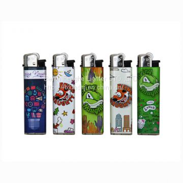 Disposable/ Refillable ISO9994 Similar Cricket Plastic Cigarette Flint Butane Gas Lighters (FH-203)