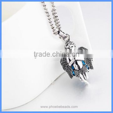 Openable Metal Angel Shape Hollow Chime Box Cage Musical Sound Bell Ball Pendant Pregnancy Necklaces For Mother BAC-M053