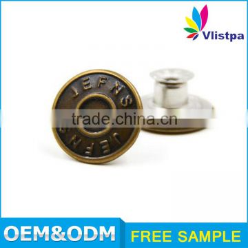 shaking brass magnetic button fasteners for clothing