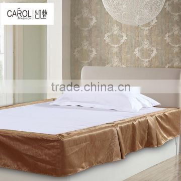 High quality Basic Pleated hotel Linen and home use skirting or bed skirt
