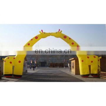 2018 entrance arch designs inflatable giraffe arch